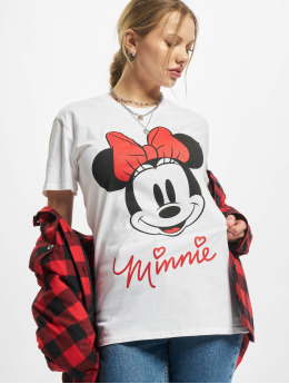 Merchcode T-shirts Ladies Minnie Mouse  hvid