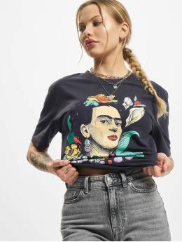 Merchcode T-skjorter Ladies Frida Kahlo Flower  blå