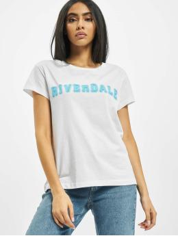 Merchcode Tričká Riverdale Logo biela