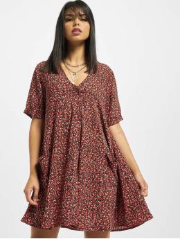 Missguided Šaty Button Thru Smock Floral červený