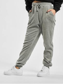 Missguided Спортивные брюки Ribbed Velour Lounge  серый