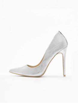 Missguided Туфли на каблуках Entry Court Printed Croc 15 серебро