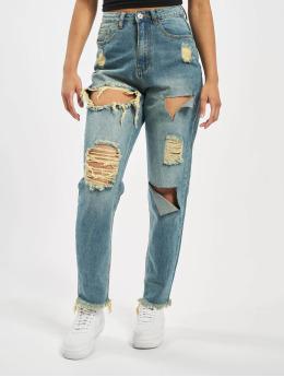 Missguided маминых джинсах Riot High Rise Ripped  синий