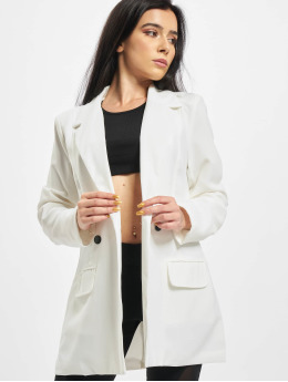 Missguided Blazer Tailored Longline blanco
