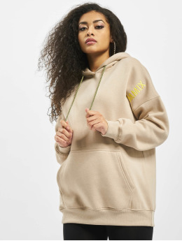 Missguided Bluzy z kapturem Mmx Oversized bezowy