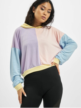 Missguided Bluzy z kapturem 4 Way Colour Block Over Size kolorowy