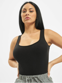 Missguided Body Square Neck Cotton Jersey  svart