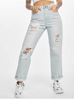 Missguided Boyfriend Jeans High Waist modrý