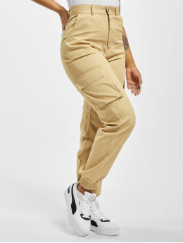 Missguided Cargo pants Plain béžový