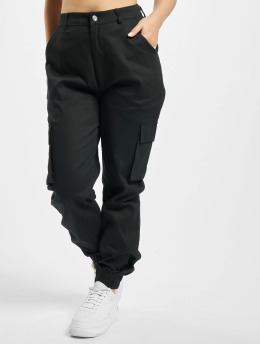Missguided Cargo pants Plain black