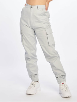 Missguided Cargo pants Plain gray