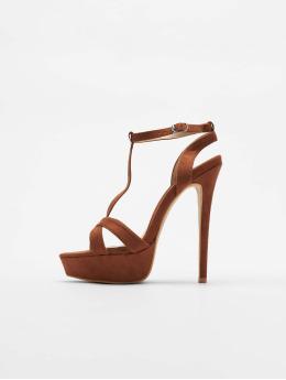 Missguided Chaussures à talon T Bar Cross Over Stiletto brun