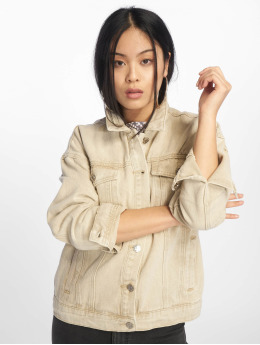 Missguided Denim Jacket Oversized Denim  beige