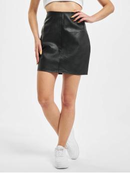 Missguided Falda Faux Leather Mini negro