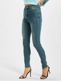 Missguided Højtaljede bukser Vintage Sinner Clean High Waist  blå