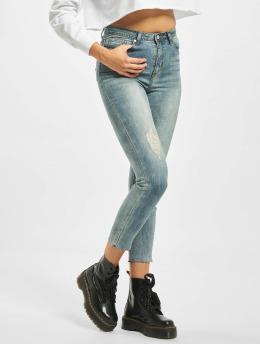 Missguided Høy midje Jeans Petite Sinner blå