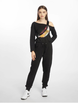Missguided Haalarit ja jumpsuitit Tall Loopback Off The Shoulder musta