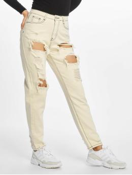 Missguided High Waisted Jeans Riot béžový