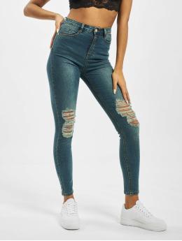 Missguided High Waisted Jeans Sinner Distress Knee Cut High Waist blauw
