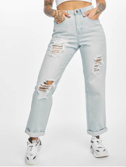 Waist Rise Jeans High Boyfriend Missguided Distressed Light Blue 9EH2DIYebW
