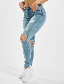 Missguided Jean skinny Sinner Open Knee  bleu