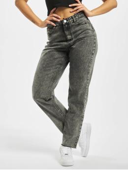 Missguided Jeans de cintura alta Riot Raw Hem Co Ord gris