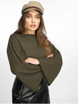 Missguided Jersey Ribbed Flare oliva