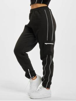 Missguided Jogging kalhoty Co Ord Contrast Pipe Pocket čern