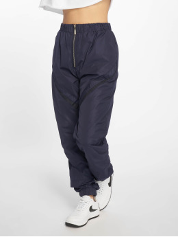 Missguided Jogging kalhoty Zip Front Shell  modrý