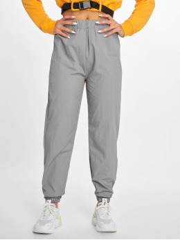 Missguided joggingbroek 80s Nylon grijs