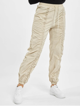 Missguided Jogginghose Nylon Ruched Front Oversized  beige