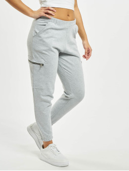 Missguided Jogginghose Pocket Detail High Waist grau