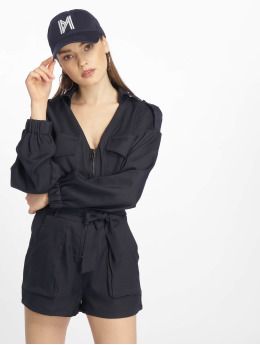 Missguided jumpsuit Petite Utility Belted blauw
