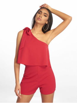 Missguided jumpsuit One Shoulder Bow rood