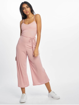 Missguided jumpsuit Rib Culotte rose