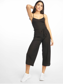 Missguided Jumpsuit Black Rib Culotte schwarz