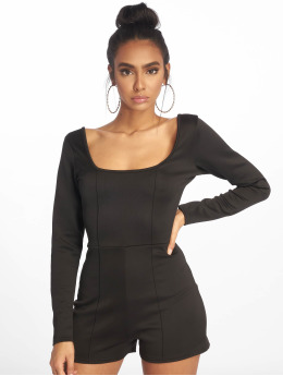 Missguided jumpsuit Pintuck Long Sleeve zwart