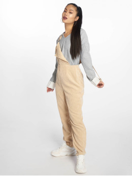 Missguided Jumpsuits Cord béžový