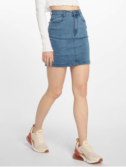 Missguided Jupe Super Stretch Denim Mini bleu