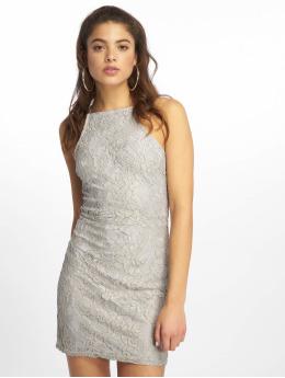Missguided jurk Lace Square Neck grijs