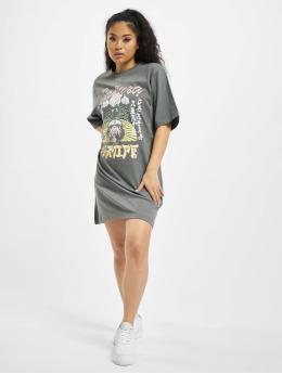 Missguided jurk Oversized T-Shirt SS Sakura grijs