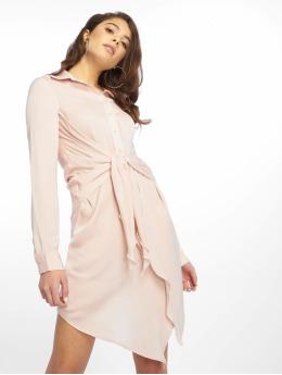 bc663a0e32951d Missguided jurk Tie Waist rose