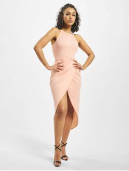 Missguided jurk Halter Wrap Bodycon rose
