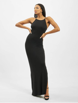 Missguided jurk Tall Basic High Neck Maxi  zwart