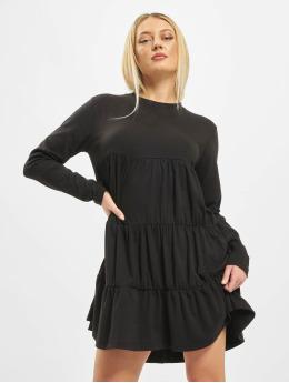Missguided jurk Jersey Tiered zwart