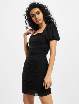 Missguided jurk Mesh Puff Sleeve Milkmaid zwart
