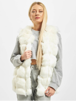 Missguided Kamizelki Bubble Gilet  bialy