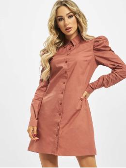 Missguided Kjoler Cotton Poplin Puff Sleeve rosa