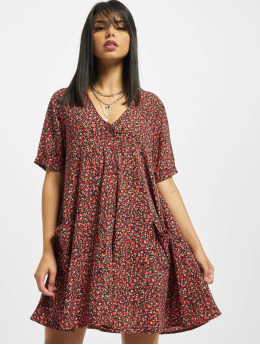 Missguided Klänning Button Thru Smock Floral röd
