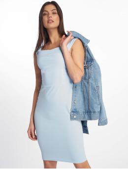 Missguided Kleid Scuba Bardot Midi Bodycon blau